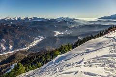 Ansicht von Postavarul-Spitze, Brasov, Siebenbürgen, Rumänien stockfoto