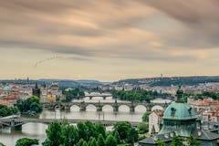 Ansicht von Prag von Letna-Park Lizenzfreie Stockfotos