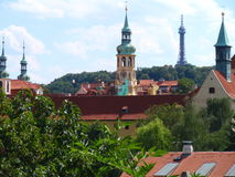 Ansicht von Prag-Schloss und von Heiliges Vitus-Kathedrale, Prag, Tschechische Republik Lizenzfreies Stockfoto