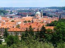 Ansicht von Prag-Schloss und von Heiliges Vitus-Kathedrale, Prag, Tschechische Republik Lizenzfreie Stockbilder
