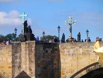 Ansicht von Prag-Schloss und von Heiliges Vitus-Kathedrale, Prag, Tschechische Republik Stockbild