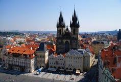 Ansicht von Prag von der alten Stadt Hall Tower Lizenzfreies Stockfoto