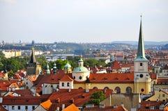 Ansicht von Prag von Prag-Schloss Lizenzfreies Stockbild