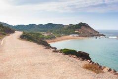 Ansicht von Pregonda-Strand in Menorca-Insel lizenzfreie stockbilder