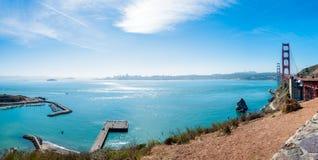 Ansicht von Punkt Golden gate bridges Vista nach San Francisco lizenzfreies stockfoto