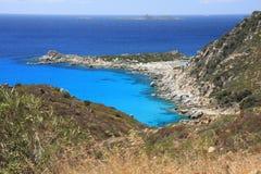 Ansicht von Punta Molentis Stockbild