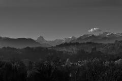 Ansicht von Pyrenäen-` s moutain stockbilder