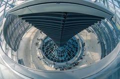 Ansicht von Reichstag-Haube in Berlin, Deutschland Lizenzfreies Stockbild