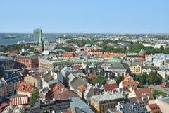 Ansicht von Riga von oben Lizenzfreies Stockbild