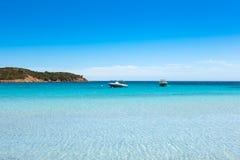 Ansicht von Rondinara-Strand in Korsika-Insel in Frankreich stockbilder
