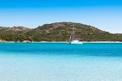Ansicht von Rondinara-Strand in Korsika-Insel in Frankreich stockfotos
