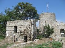 Ansicht von Ruinen der Festung von Kavala, von Ost-Mazedonien und von Thrakien, Griechenland lizenzfreie stockfotografie