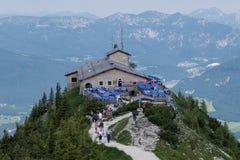 Ansicht von ` s Kehlsteinhaus/Eagles Nest in Deutschland Lizenzfreie Stockfotos