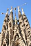 Ansicht von Sagrada Famila in Barcelona, Spanien stockfoto