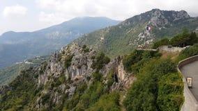 Ansicht von Sainte-Agnes, Frankreich stock video