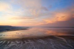 Ansicht von Salt Lake Tuzbair Lizenzfreies Stockbild