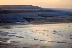 Ansicht von Salt Lake Tuzbair Stockfotos