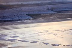 Ansicht von Salt Lake Tuzbair Lizenzfreie Stockfotografie