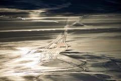 Ansicht von Salt Lake Tuzbair Lizenzfreie Stockbilder