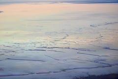Ansicht von Salt Lake Tuzbair Stockfotografie