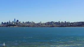 Ansicht von San Francisco Stadt und Pazifischem Ozean stock footage