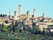 Ansicht von San Gimignano Stockbilder