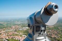 Ansicht von San- Marinofestung auf adriatischer Küste Stockfoto