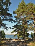 Ansicht von Sandhamn-Insel, Stockholm-Archipel, Schweden stockbild