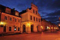 Ansicht von sandomierz in der Nacht Lizenzfreies Stockbild