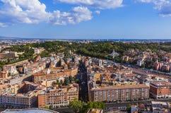 Ansicht von Sant Peters Basilica in Vatikan - Rom Italien Lizenzfreie Stockfotografie