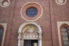 Ansicht von Santa Maria-delle Grazie-Kirche stockbild
