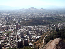 Ansicht von Santiago von Chile Lizenzfreies Stockbild