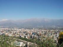 Ansicht von Santiago von Chile Stockfoto