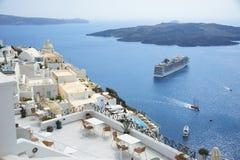 Ansicht von Santorini Lizenzfreies Stockbild
