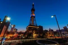 Ansicht von Sapporo Fernsehturm Lizenzfreies Stockfoto