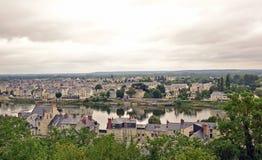 Ansicht von Saumur lizenzfreies stockbild