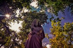 Ansicht von schönen Gärten in Brodsworth Hall Lizenzfreie Stockfotos