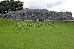 Ansicht von Schloss-Ruinen bei altem Sarum, England Lizenzfreies Stockfoto