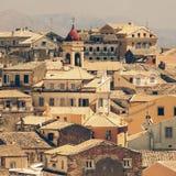 Ansicht von Schloss zu Korfu-Stadt Stockfotografie