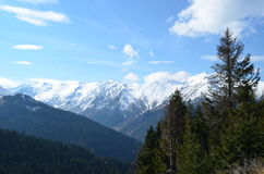 Ansicht von schneebedeckte Berge im Regionstruthahn Schwarzen Meers Stockbilder