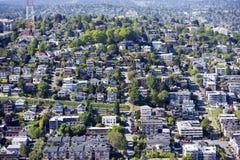 Ansicht von Seattle von der Raum-Nadel Lizenzfreie Stockfotografie