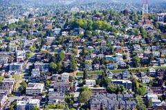 Ansicht von Seattle von der Raum-Nadel Lizenzfreie Stockfotos