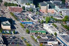 Ansicht von Seattle von der Raum-Nadel Stockfoto
