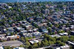 Ansicht von Seattle von der Raum-Nadel Stockfotos