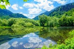 Ansicht von See Biograd Stockbilder