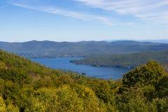 Ansicht von See George Stockbilder