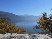 Ansicht von See, Ioannina, Griechenland lizenzfreie stockbilder