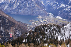 Ansicht von See Traunsee Stockbilder