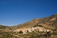 Ansicht von Sella, Spanien Stockbilder