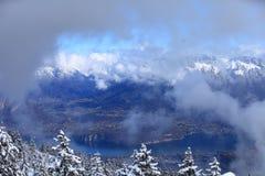 Ansicht von Semnoz-Berg stockbild